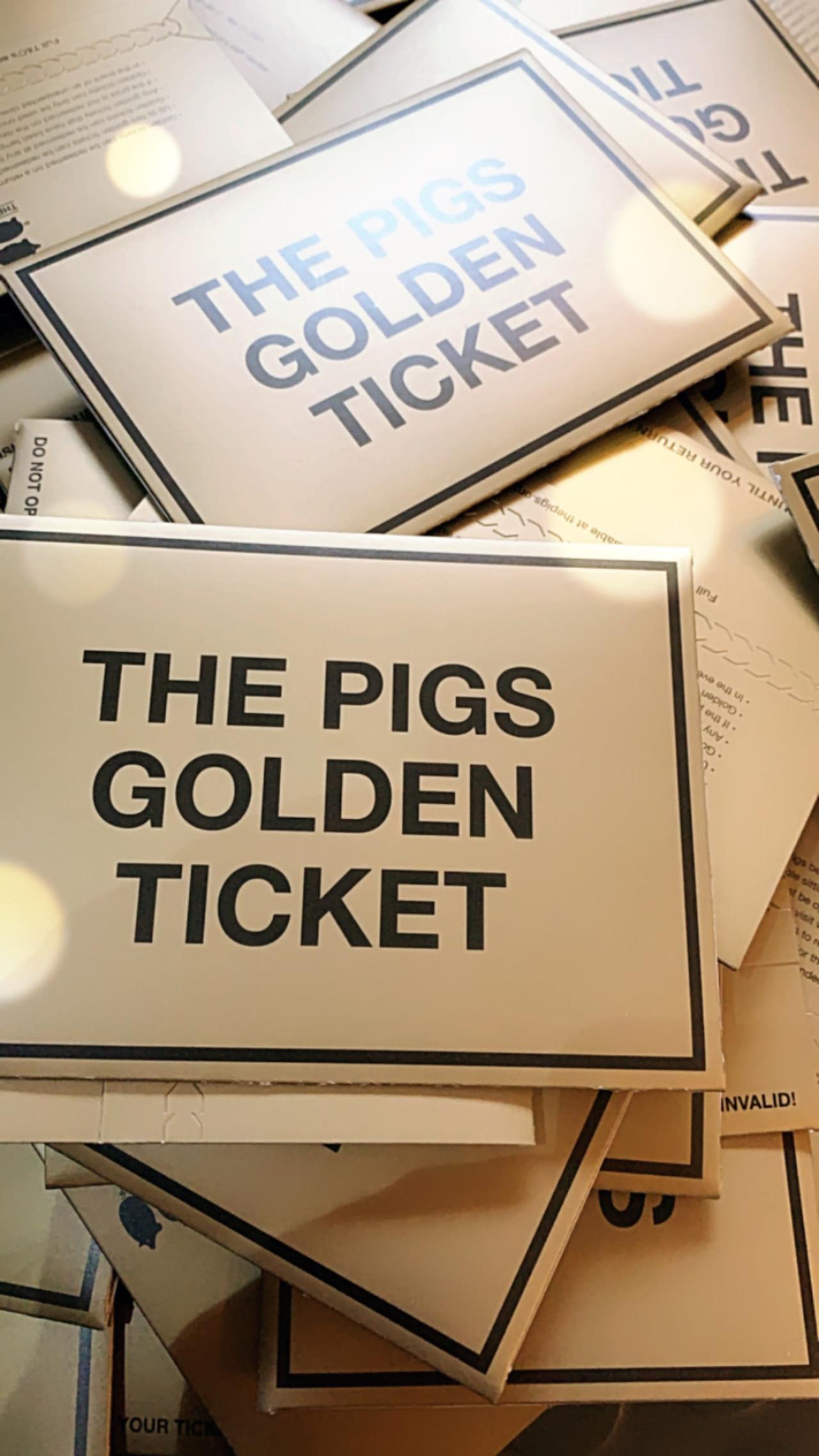 Pigs Golden Ticket Shine